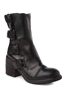MARSELL Multibuckle leather boots