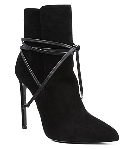 SAINT LAURENT Paris 110 wrap boots (Black