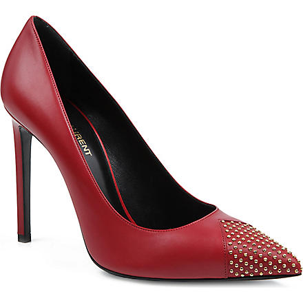 SAINT LAURENT Paris studded courts (Red