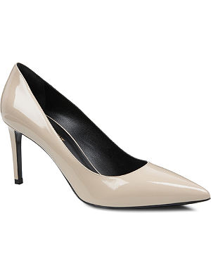 SAINT LAURENT Classic Paris escarpin pumps in nude suede