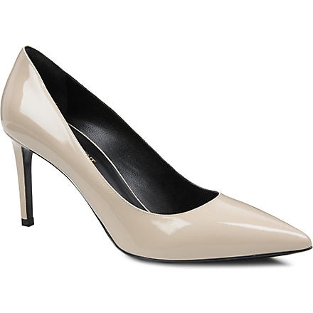 SAINT LAURENT Classic Paris escarpin pumps in nude suede (Nude