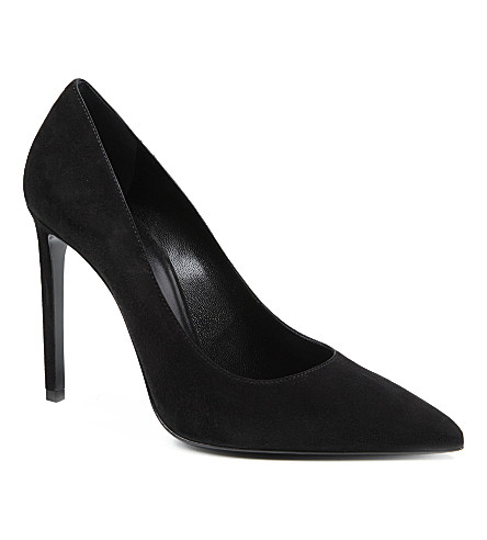 SAINT LAURENT Classic Paris escarpin pumps in black suede (Black