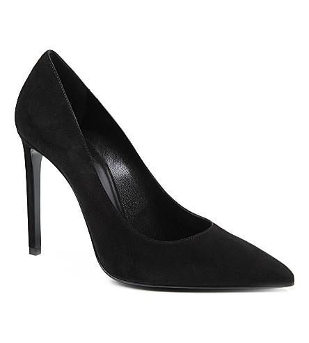 SAINT LAURENT Classic Paris escarpin pumps in black suede (Black