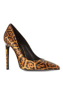 SAINT LAURENT Janis 105 leopard court shoes