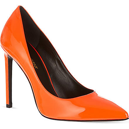 SAINT LAURENT Paris pumps 105 (Orange
