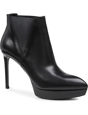 SAINT LAURENT Classic Janis boots in black leather