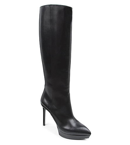 SAINT LAURENT Janis knee-high boots (Black