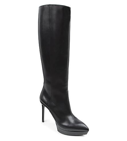 SAINT LAURENT Janis knee-high boots (Black