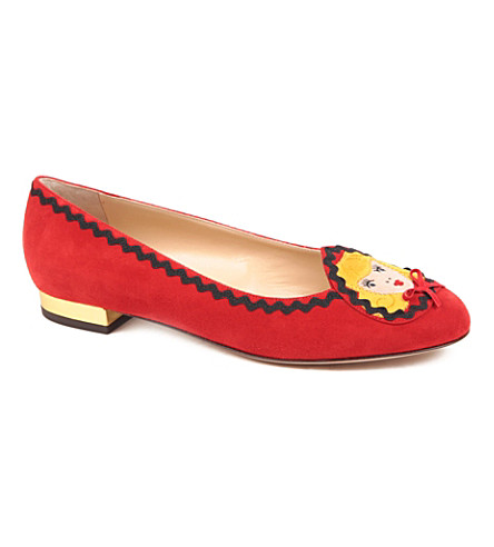 CHARLOTTE OLYMPIA Red riding hood slippers (Red