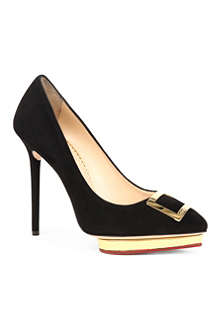 CHARLOTTE OLYMPIA Fairest of Them All suede courts