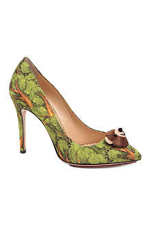 CHARLOTTE OLYMPIA Bear Neccessities satin courts