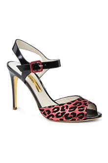 RUPERT SANDERSON Jacoba leather leopard-print sandals