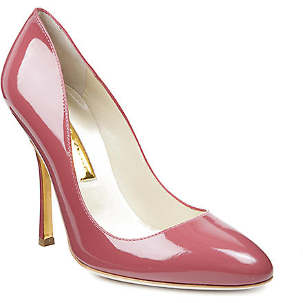 RUPERT SANDERSON Janice patent leather courts (Pink