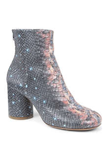MAISON MARTIN MARGIELA Tabi leather snakeskin-effect ankle boots
