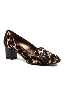 LANVIN Cube animal print court shoes