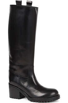 A F VANDEVORST Tractor leather riding boots