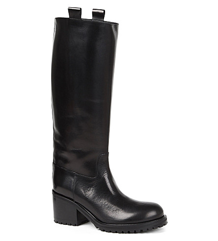 A F VANDEVORST Tractor leather riding boots (Black