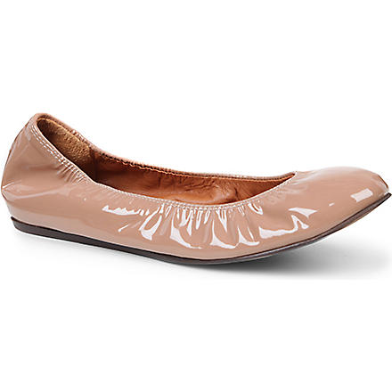 LANVIN Lancelot patent-leather pumps (Cream