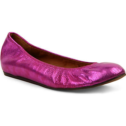 LANVIN Lancelot Sof metallic leather pumps (Fushia