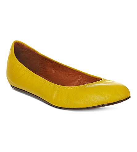 LANVIN Lancelot soft leather pumps (Yellow
