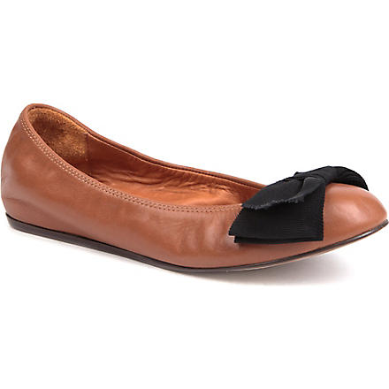 LANVIN Moon leather pumps (Brown