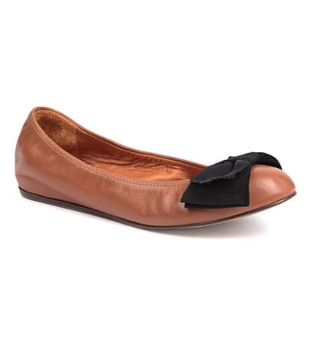 LANVIN Moon leather pumps (Brown
