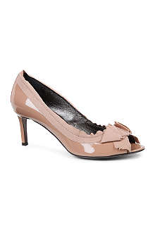 LANVIN Timeless patent-leather peep-toe courts