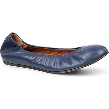 LANVIN Lancelot leather pumps (Navy