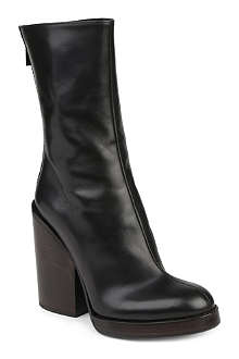 HAIDER ACKERMANN Leather stacked-heel ankle boots