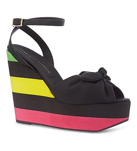 CHARLOTTE OLYMPIA Miranda wedge sandals (Black