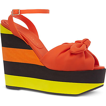 CHARLOTTE OLYMPIA Miranda platform sandals (Orange