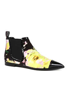 NICHOLAS KIRKWOOD FOR ERDEM Czech silk and leather Chelsea boots