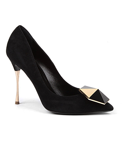 NICHOLAS KIRKWOOD Ornament suede courts (Blk/other