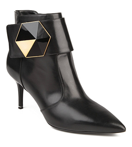 NICHOLAS KIRKWOOD Gabon leather ankle boots (Blk/other