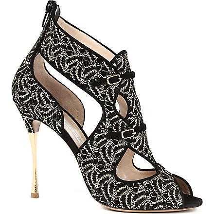 NICHOLAS KIRKWOOD Nauru suede sandals (Black/comb