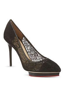 CHARLOTTE OLYMPIA Debbie lace court shoes