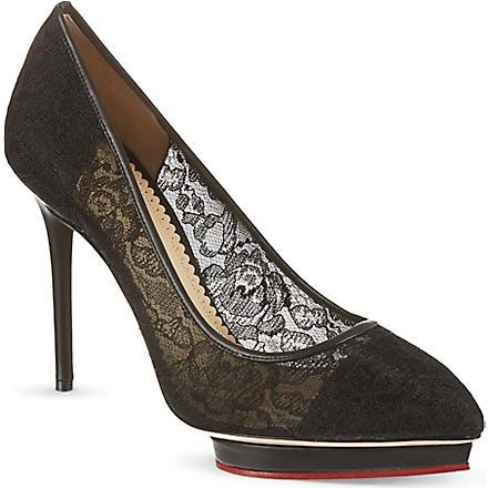 CHARLOTTE OLYMPIA Debbie lace court shoes (Black