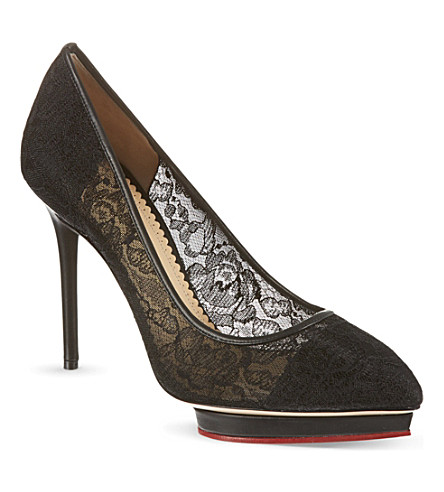 CHARLOTTE OLYMPIA Debbie lace court shoes (Black