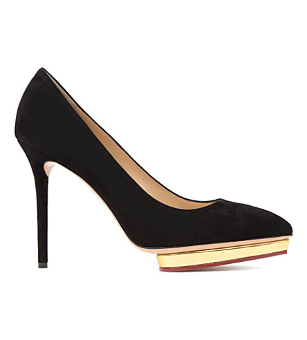 CHARLOTTE OLYMPIA Debbie court shoes (Blk/other