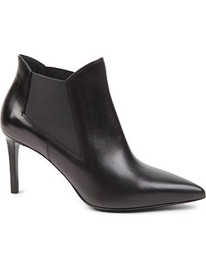 SAINT LAURENT Classic Paris chelsea ankle boots in black leather