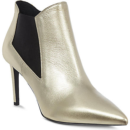 SAINT LAURENT Bottine Beatle leather ankle boots (Silver