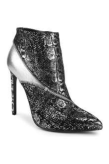 SAINT LAURENT Paris 110 metallic leather ankle boots