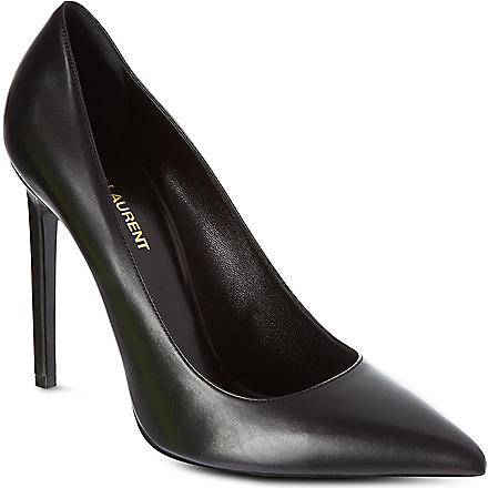 SAINT LAURENT Paris leather courts (Black
