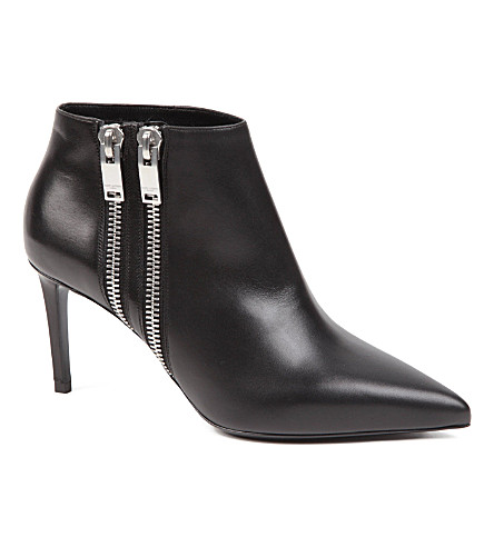 SAINT LAURENT Paris zip ankle boots (Black