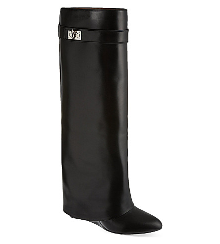 GIVENCHY Overlay leather boots (Black