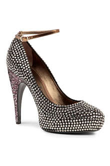 LANVIN Cone diamanté-embellished courts