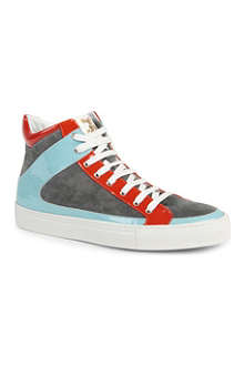 RUPERT SANDERSON Rockall suede high-top trainers