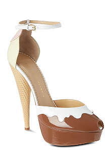 CHARLOTTE OLYMPIA Ice cream patent sandals