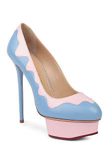 CHARLOTTE OLYMPIA Josie sundae leather court shoes