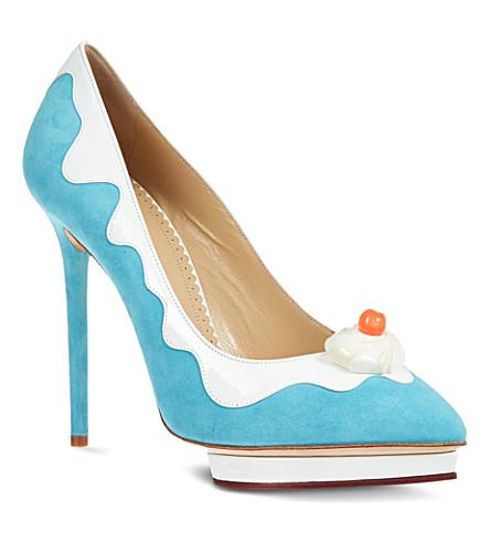 CHARLOTTE OLYMPIA Debonaire Sundae wedge sandals (Blue
